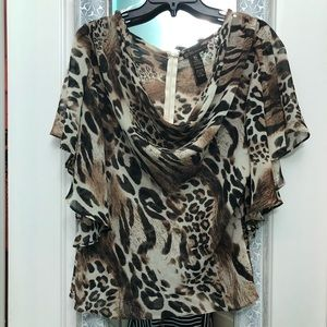 Angel sleeved blouse with tie